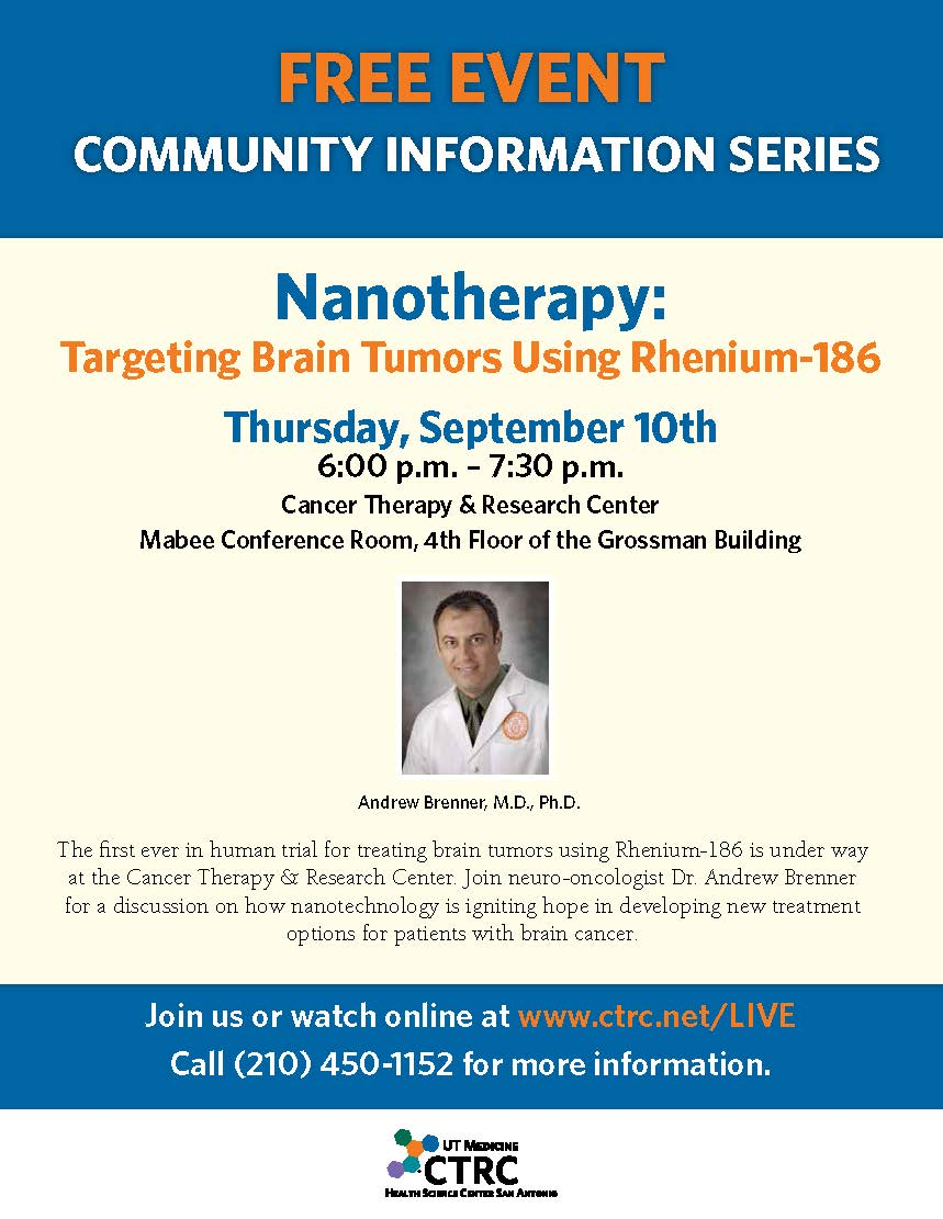 Flier for Nanotherapy community seminar