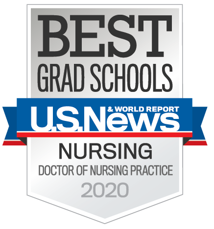 Best Grad Schools 2020 badge from US News & World Report for UT Health San Antonio's DNP program