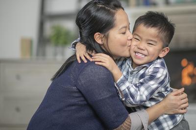 Filipino mom with child
