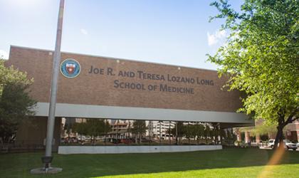 UT Transplant Center location at the Long School of Medicine building