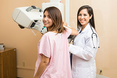 Image of woman getting a mammogram
