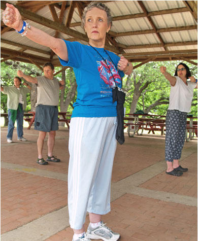 Yoga classes are one of many offerings at the Cancer Center.