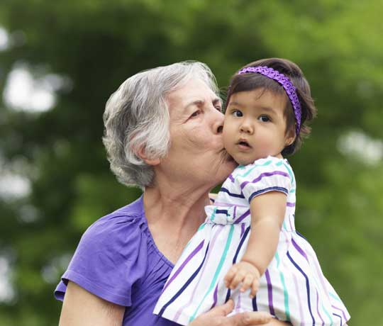 Grandmother with granddaughter