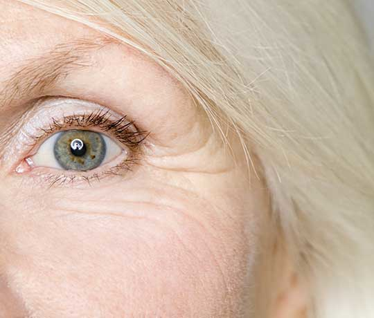 Close-up of the of a woman's eye