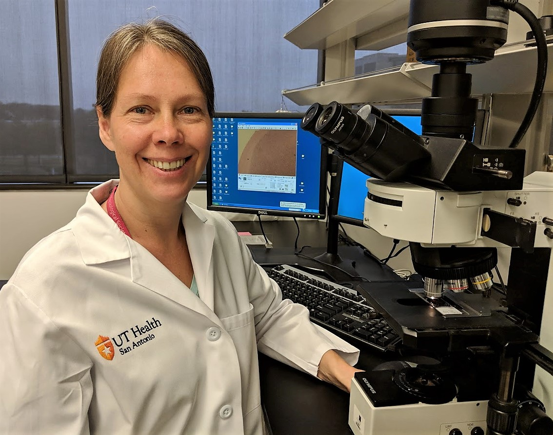 Dr. Aleksandra Gruslova, postdoctoral fellow, conducts in vitro and in vivo experiments for preclinical drug development.