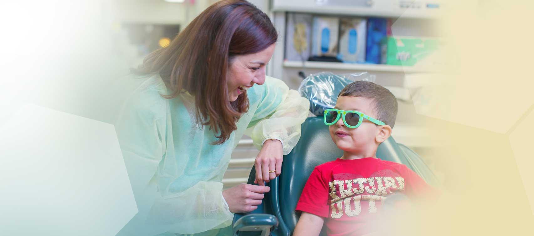 Dr. Cervantes and pediatric patient