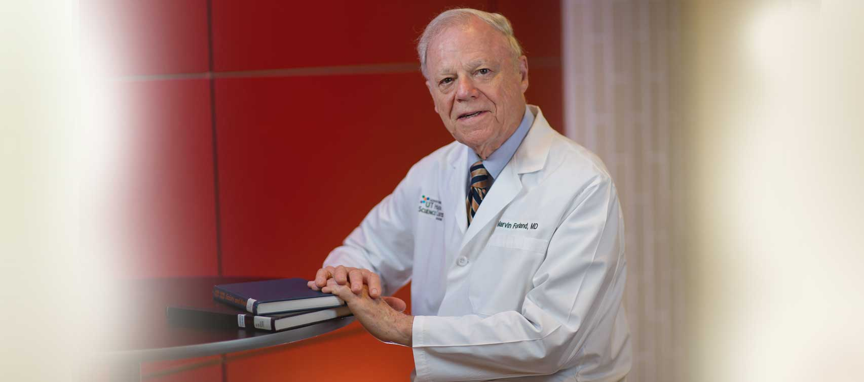 Founding faculty member Marvin Forland, M.D., MACP, serves as a volunteer at the UT Health Science Center. The nephrologist gives back his time to the Center for Medical Humanities & Ethics.