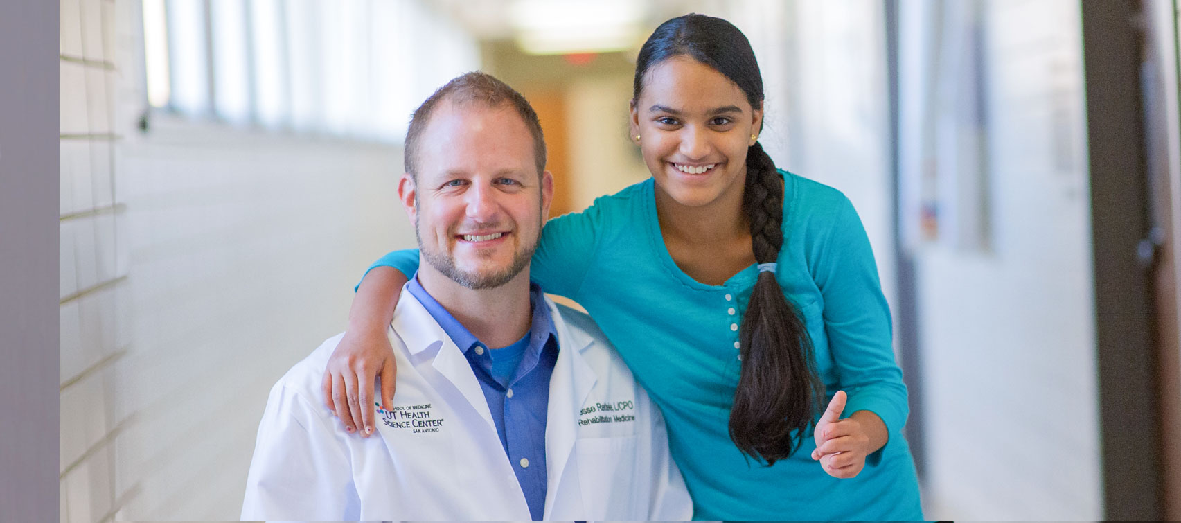 Dr. Rettele with young patient