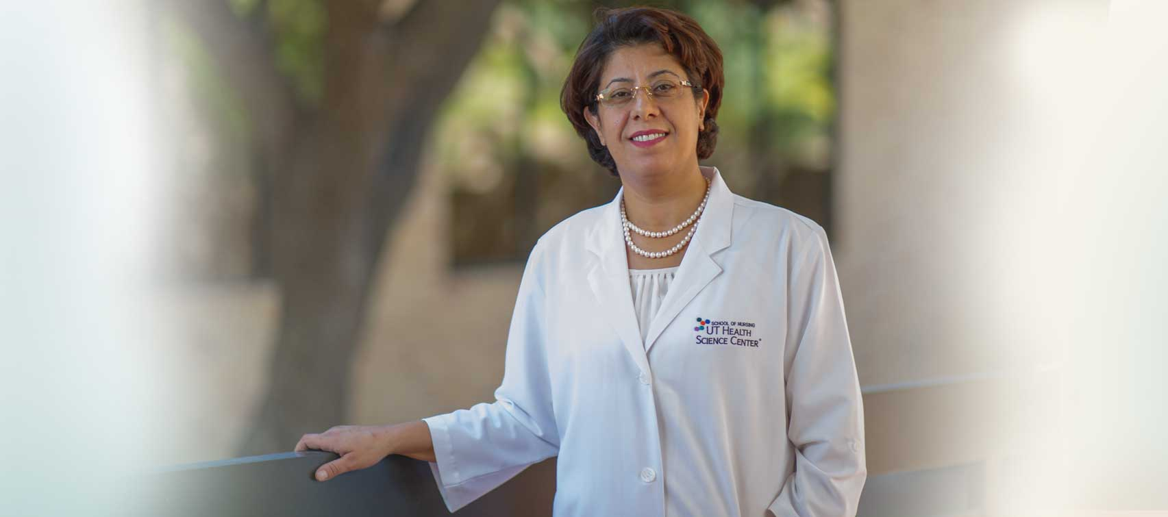 Dr. Azizeh Sowan, UT Health Science Center San Antonio, believes in evidence-based practice in nursing, which is why she teaches her graduate school nursing students how to use infomatics to offer better patient care.