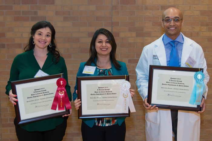 Medical student winners with certificates