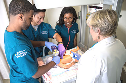 School of Health Professions UT Health San Antonio students in simulation lab