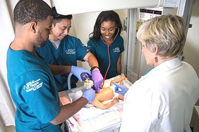 School of Health Professions UT Health San Antonio students in simulation lab