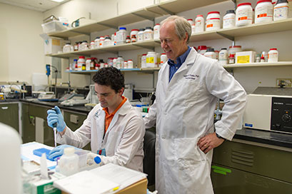 UT Health Science Center affiliated programs pharmacy student and professor