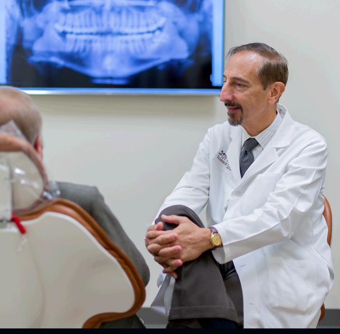 Dr. Ellis with patient