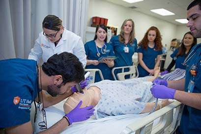 School of Health Professions -  UT Health Science Center San Antonio researchers in lab
