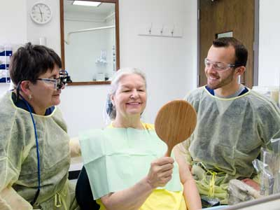 UT Dentistry's dental implant clinic can help patients replace teeth that are irreparably damaged or broken and have been removed through tooth extraction.