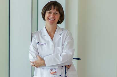 Dr. Ildiko Agoston listens to patients symptoms and life stories.