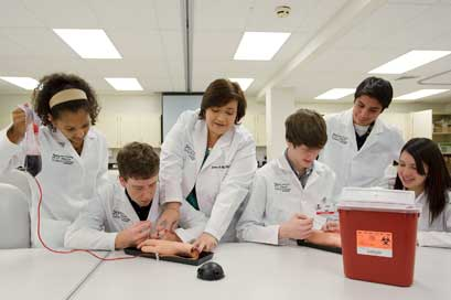 Dr. Irene Chapa of the UTHSCSA Office of Recruitment and Science Outreach believes in mentoring students for a future vocation in science careers.