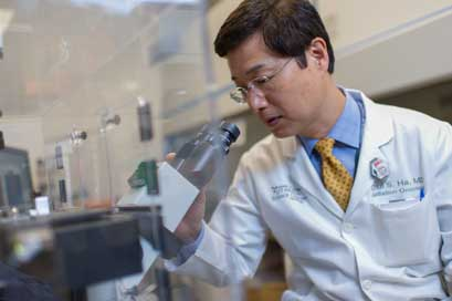 Dr. Chul Ha, CTRC radiation oncology, chair of the department of radiation oncology.