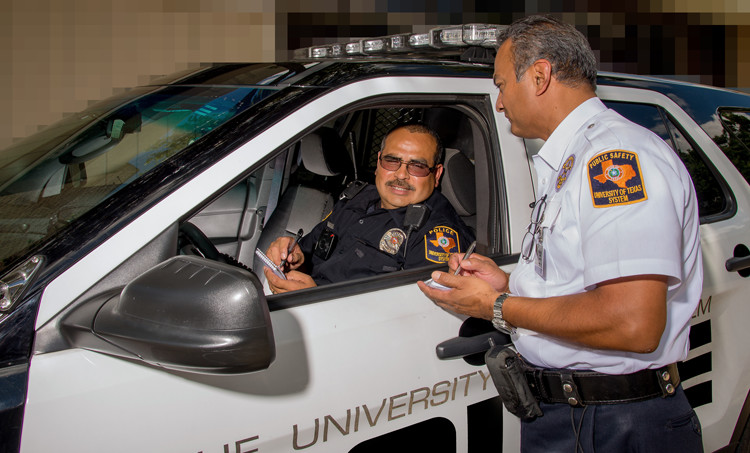University security and campus police conduct criminal investigations at UTHSCSA