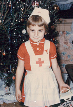 Dr. Young as a child; she now studies how exercise might help recovery from PTSD.