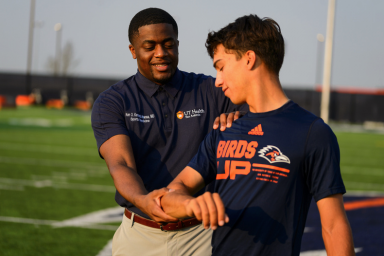 Dr. Nwosa and athlete