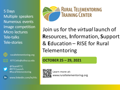 Rural Telementoring Training Center Launch Event Flyer Image