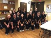 Speech-language pathology students perform pediatric screenings