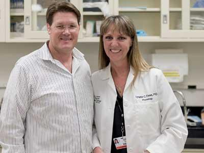 Neuroscientist Lynette Daws, Ph.D., is testing compounds that may prove to be novel medications for psychiatric disorders.