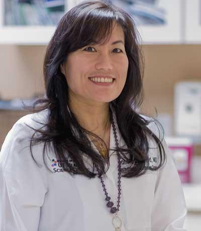 Sandra Osswald, M.D., brings her expertise in dermatology and dermatopathology to patients at UT Medicine's Dermatology Clinic, as well as her wealth of knowledge to School of Medicine students and residents.