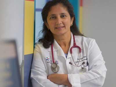 Pediatric hematologist-oncologist Shafqat Shah, M.D. treats patients with childhood cancer.
