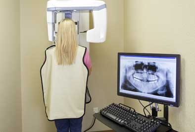 Patient having imaging scans taken